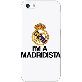 Jugaaduu Real Madrid Back Cover Case For Apple iPhone 5 - J20599