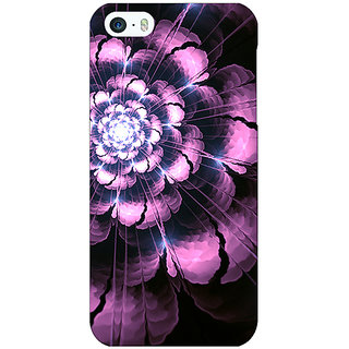 Jugaaduu Abstract Flower Pattern Back Cover Case For Apple iPhone 5 - J21502