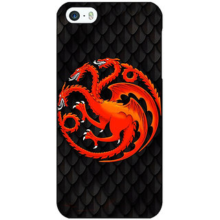 Jugaaduu Game Of Thrones GOT House Targaryen  Back Cover Case For Apple iPhone 5 - J20138