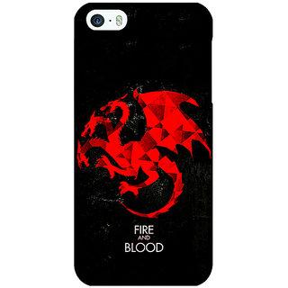 Jugaaduu Game Of Thrones GOT House Targaryen  Back Cover Case For Apple iPhone 5 - J20140
