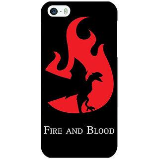Jugaaduu Game Of Thrones GOT House Targaryen  Back Cover Case For Apple iPhone 5 - J20143