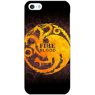 Jugaaduu Game Of Thrones GOT House Targaryen  Back Cover Case For Apple iPhone 5 - J20149
