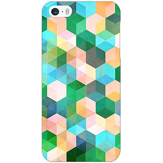 Jugaaduu Green Hexagons Pattern Back Cover Case For Apple iPhone 5c - J30276