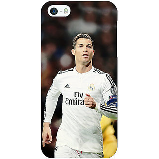 Jugaaduu Cristiano Ronaldo Real Madrid Back Cover Case For Apple iPhone 5c - J30309