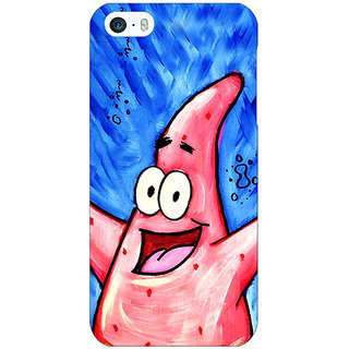Jugaaduu Spongebob Patrick Back Cover Case For Apple iPhone 5 - J20463