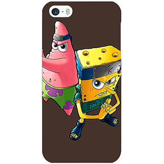 Jugaaduu Spongebob Patrick Back Cover Case For Apple iPhone 5 - J20471