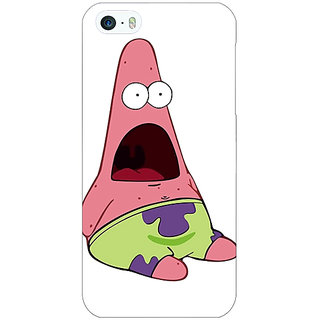 Jugaaduu Spongebob Patrick Back Cover Case For Apple iPhone 5 - J20475