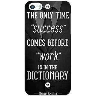 Jugaaduu SUITS Quotes Back Cover Case For Apple iPhone 5 - J20476