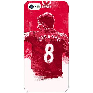 Jugaaduu Liverpool Gerrard Back Cover Case For Apple iPhone 5c - J30545