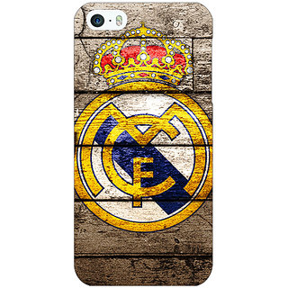 Jugaaduu Real Madrid Back Cover Case For Apple iPhone 5c - J30596