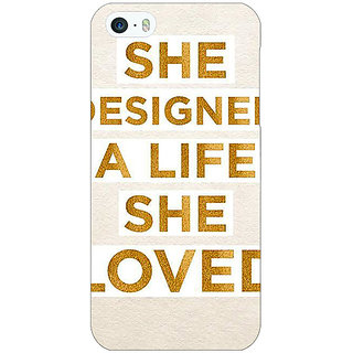 Jugaaduu Quotes Beautiful Back Cover Case For Apple iPhone 5 - J21190