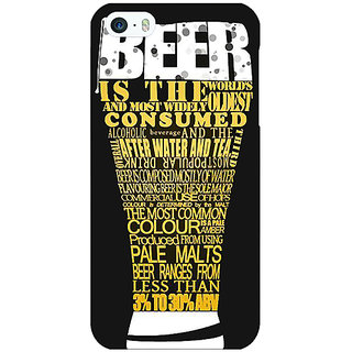 Jugaaduu Beer Quote Back Cover Case For Apple iPhone 5 - J21227