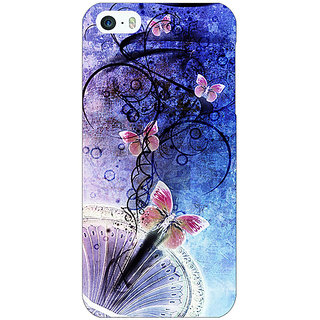 Jugaaduu Abstract Butter Fly Pattern Back Cover Case For Apple iPhone 5 - J21510