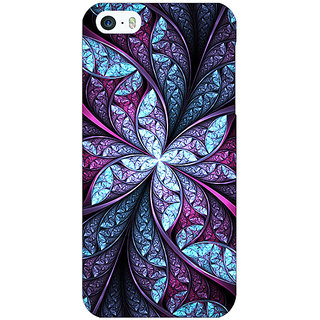Jugaaduu Abstract Flower Pattern Back Cover Case For Apple iPhone 5 - J21520