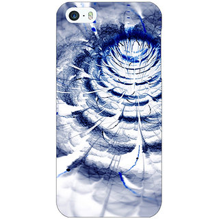 Jugaaduu Abstract Flower Pattern Back Cover Case For Apple iPhone 5 - J21521