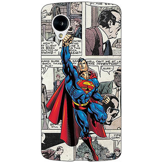 Jugaaduu Superheroes Superman Back Cover Case For Google Nexus 5 - J40029