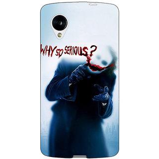 Jugaaduu Villain Joker Back Cover Case For Google Nexus 5 - J40041