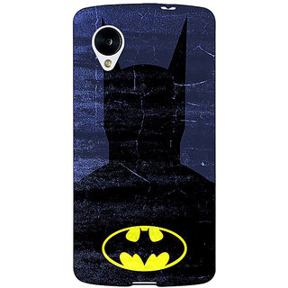 Jugaaduu Superheroes Batman Dark knight Back Cover Case For Google Nexus 5 - J40042
