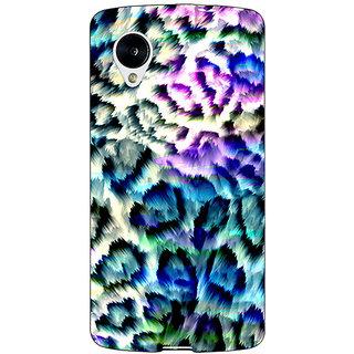 Jugaaduu Cheetah Leopard Print Back Cover Case For Google Nexus 5 - J40081