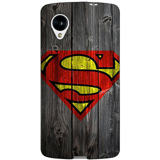 Jugaaduu Superheroes Superman Back Cover Case For Google Nexus 5 - J40384
