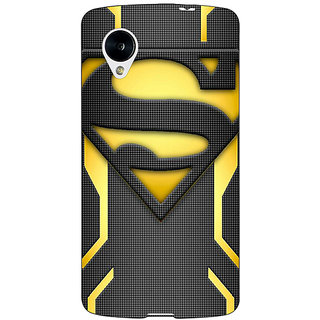 Jugaaduu Superheroes Superman Back Cover Case For Google Nexus 5 - J40385