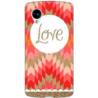 Jugaaduu Love Back Cover Case For Google Nexus 5 - J40096