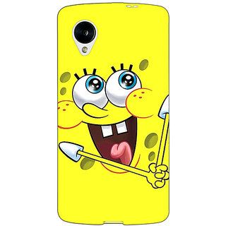 Jugaaduu Spongebob Back Cover Case For Google Nexus 5 - J40460