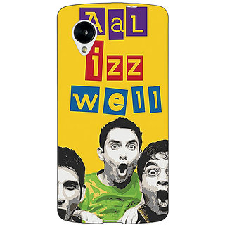Jugaaduu Bollywood Superstar Three Idiots All is Well Back Cover Case For Google Nexus 5 - J41111