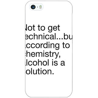 Jugaaduu Alcohol Quote Back Cover Case For Apple iPhone 5 - J21310