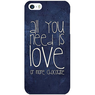 Jugaaduu Love Quote Back Cover Case For Apple iPhone 5 - J21328