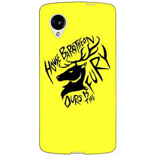 Jugaaduu Game Of Thrones GOT House Baratheon  Back Cover Case For Google Nexus 5 - J40168