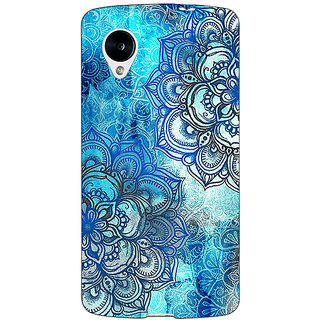 Jugaaduu Blue Floral Doodle Pattern Back Cover Case For Google Nexus 5 - J40211