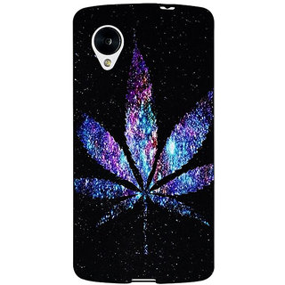 Jugaaduu Weed Marijuana Back Cover Case For Google Nexus 5 - J40494