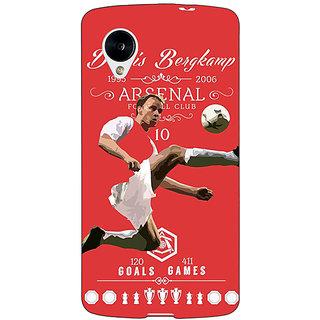 Jugaaduu Arsenal Dennis Bergkamp Back Cover Case For Google Nexus 5 - J40501