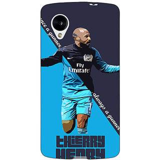 Jugaaduu Arsenal Therry Henry Back Cover Case For Google Nexus 5 - J40505