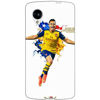 Jugaaduu Arsenal Back Cover Case For Google Nexus 5 - J40511