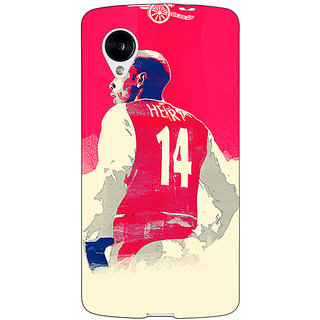 Jugaaduu Arsenal Therry Henry Back Cover Case For Google Nexus 5 - J40517