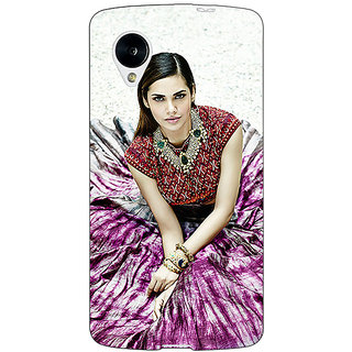 Jugaaduu Bollywood Superstar Esha Gupta Back Cover Case For Google Nexus 5 - J40968