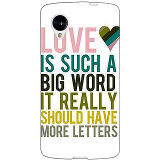 Jugaaduu Quotes Love Back Cover Case For Google Nexus 5 - J41152