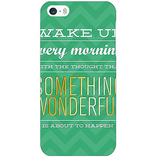 Jugaaduu Quotes Something Wonderful Back Cover Case For Apple iPhone 5c - J31157