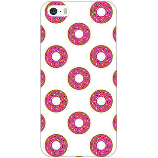 Jugaaduu Donut Pattern Back Cover Case For Apple iPhone 5c - J31384