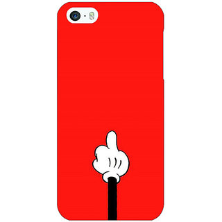 Jugaaduu Mickey Mouse Back Cover Case For Apple iPhone 5c - J31391