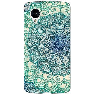 Jugaaduu Emerald Doodle Pattern Back Cover Case For Google Nexus 5 - J40216