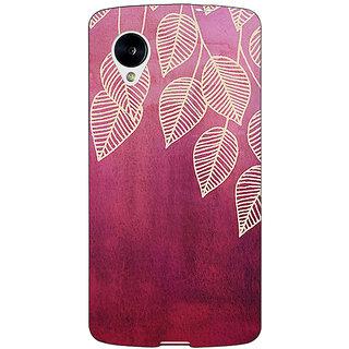 Jugaaduu Golden Leaves Pattern Back Cover Case For Google Nexus 5 - J40217