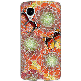 Jugaaduu Butterflies Pattern Back Cover Case For Google Nexus 5 - J40261