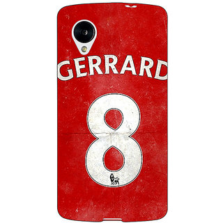 Jugaaduu Liverpool Gerrard Back Cover Case For Google Nexus 5 - J40546