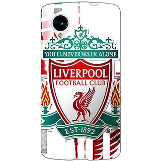 Jugaaduu Liverpool Back Cover Case For Google Nexus 5 - J40549