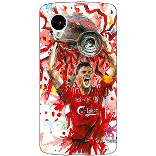 Jugaaduu Liverpool Gerrard Back Cover Case For Google Nexus 5 - J40550