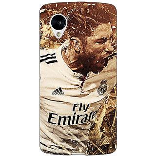 Jugaaduu Real Madrid Sergio Ramos Back Cover Case For Google Nexus 5 - J40588
