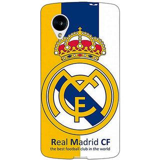 Jugaaduu Real Madrid Back Cover Case For Google Nexus 5 - J40591